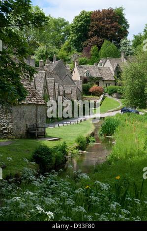 arlington row, bibury, gloucestershire, england - Stock Photo
