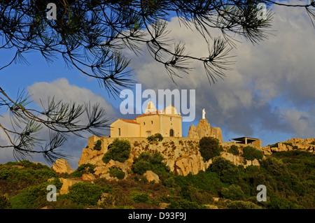Chapelle de Notre Dame de la Serra, Balagne Region, Haute-Corse, Corsica, France - Stock Photo