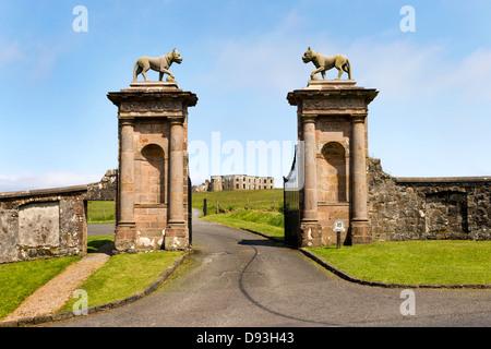Lion's Gate, Downhill Demesne, Castlerock, Coleraine, Co Londonderry, Northern Ireland, UK. - Stock Photo