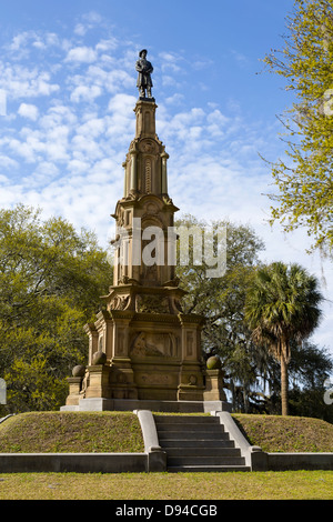 Confederate Memorial, Forsyth Park, Savannah, Georgia - Stock Photo