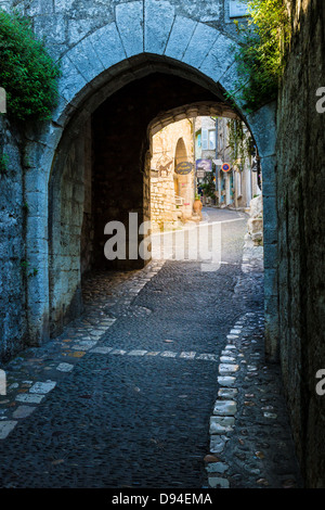 Entrance gate to Saint Paul de Vence in France - Stock Photo