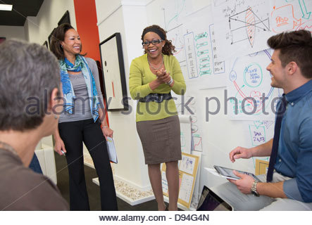 Business people talking in office - Stock Photo