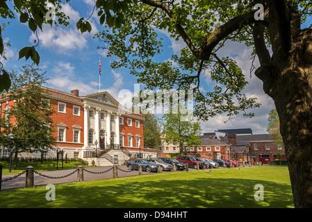 Warrington Town Hall. Warrington Cheshire North West England. - Stock Photo