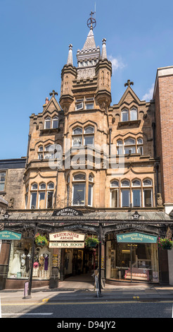 Harrogate in North Yorkshire formerly the West Riding of Yorkshire. The Westminster Arcade. - Stock Photo