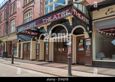 Harrogate in North Yorkshire formerly the West Riding of Yorkshire. Harrogate Theatre main entrance. - Stock Photo