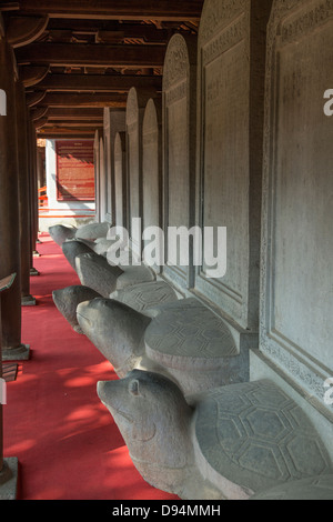 The Temple of Literature is Confucian temple which was formerly a center of learning in Hanoi. - Stock Photo