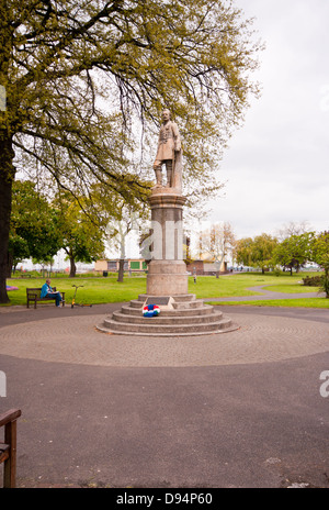 Statue Of General Charles Gordon In The Fort Gardens At Gravesend Kent UK - Stock Photo
