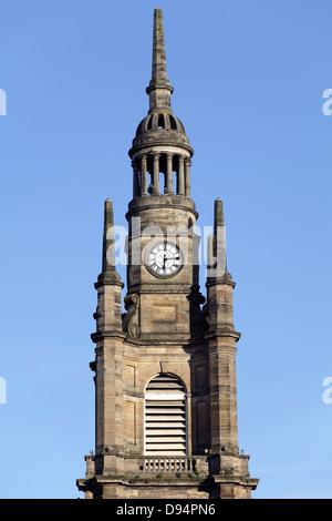 The Clock Steeple of St George's Tron Parish Church, Nelson Mandela Place, Glasgow, Scotland, UK