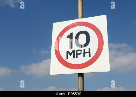 10 MPH sign - Stock Photo