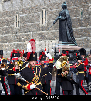Changing of the guard, Windsor UK - Stock Photo