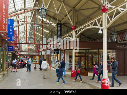 Windsor Royal Shopping centre in the converted grade II listed Victorian Railway Station Windsor Berkshire England - Stock Photo