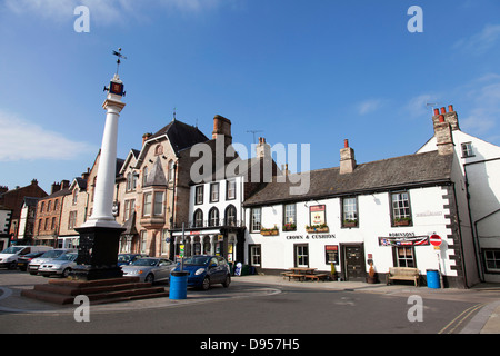 The Market Cross, Boroughgate, Appleby-in-Westmorland, Cumbria, England, U.K. - Stock Photo