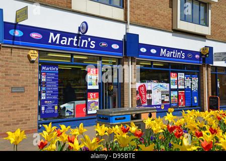 Martin's newsagent, High Street, Kidlington, Oxfordshire, England, United Kingdom - Stock Photo