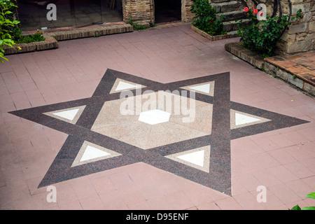 Star of David, Museum of Jewish History, Girona, Catalonia, Spain - Stock Photo