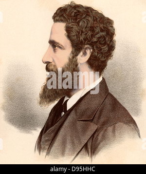 Edward Robert Bulwer Lytton, first Earl Lytton (1831-1891) British statesman, novelist and poet. Viceroy of India - Stock Photo