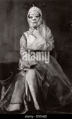 Bertholt Brecht (1898-1956) German playwright and poet. Production of his play 'The Caucasian Chalk Circle' by the - Stock Photo