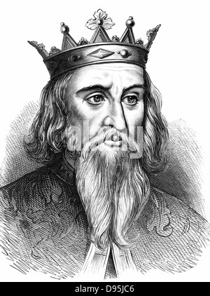 Henry I (1068-1135) king of England from 1100; youngest son of William I, the Conqueror. Wood engraving c1900 - Stock Photo