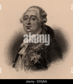 Louis XVI (1754-1793) king of France from 1774, brought to trial by the revolutionary National Convention, December - Stock Photo