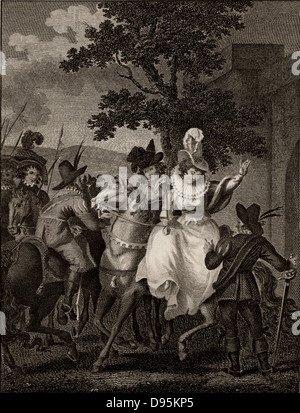 Mary, Queen of Scots (1542-1587), mother of James VI of Scotland and I of England, surrendering to the confederate - Stock Photo