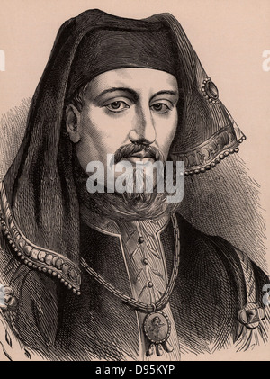 Henry IV (1367-1413) king of England from 1399. First Lancastrian king of England, son of John of Gaunt. Wood engraving - Stock Photo