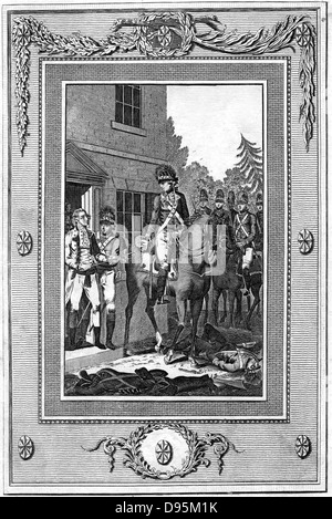 Charles Lee (1731-82) English-born American Revolutionary general captured by British troops 1776. Engraving - Stock Photo