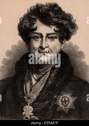 George IV (1762-1830), son of George III, Prince Regent from 1811due to his father's illness. King of Great Britain - Stock Photo