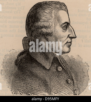 John Howard (1726-1790) English prison reformer.  Howard League for Penal Reform named for him. Woodcut. - Stock Photo