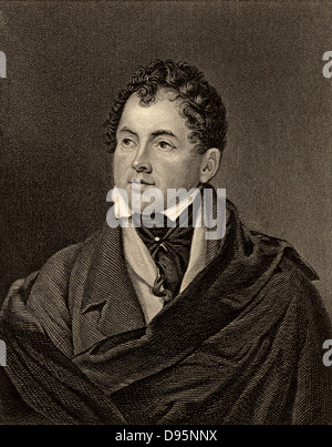 Thomas Moore (1779-1852) Irish-born poet and writer. Friend of Leigh Hunt, Lord John Russell and Lord Byron, whose - Stock Photo