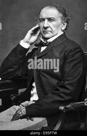 William Ewart Gladstone (1809-1898) British Liberal statesman. Photograph. - Stock Photo