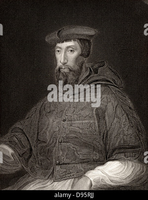 Cardinal Reginald Pole (1500-1558) English prelate. Archbishop of Canterbury. Persecuted Protestants during reign - Stock Photo