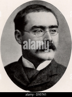 Rudyard Kipling (1865-1936) English journalist, novelist and poet, born in India. Halftone after a photograph. - Stock Photo
