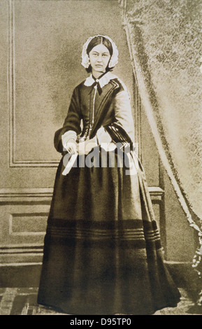 Florence Nightingale (1820-1910) English nurse, statistician and hospital reformer. From a photograph - Stock Photo