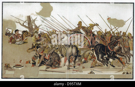Alexander The Great (356-323BC) The Battle of Alexander, depicting defeat by Alexander of the forces of Persian - Stock Photo