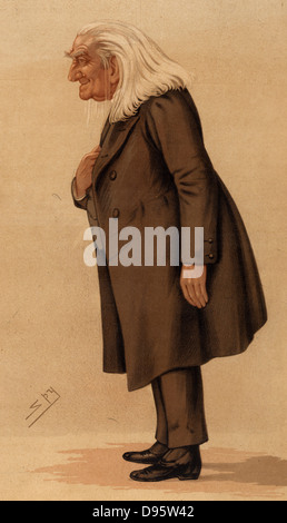 The Abbe'.  Franz (Ferencz) Liszt (1811-1886) Hungarian pianist and composer shortly after his third and last visit - Stock Photo