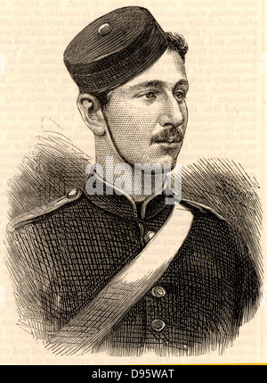 The Prince Imperial. Prince Louis Napoleon (1856-1879), son of Napoleon III of France and Empress Eugenie, as a - Stock Photo