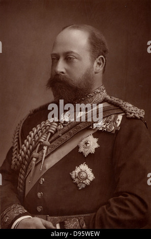 Edward VII (1841-1910) king of the United Kingdom from 1901, while still Prince of Wales.  From 'The Cabinet Portrait - Stock Photo