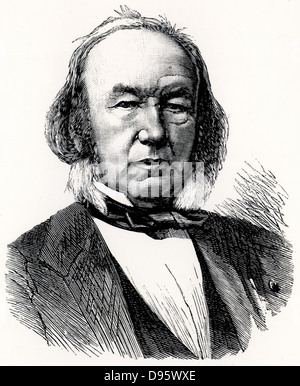 Claude Bernard (1813-1878) French physiologist who applied scientific method to medicine. Engraving from 'La Nature' - Stock Photo
