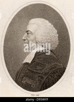 Hugh Blair (1718-1800) Scottish Presbyterian preacher and man-of-letters, Professor of Rhetoric at Edinburgh University. - Stock Photo