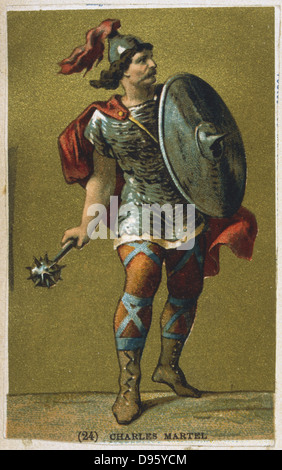Charles Martel (c688-741) 'The Hammer'. Frankish king, grandfather of Charlemagne and founder of the Carolingian - Stock Photo