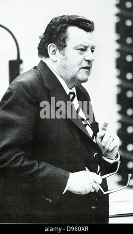 Franz Josef Strauss (1915?1988)  German politician (CSU) and long-time minister-president of the state of Bavaria. - Stock Photo