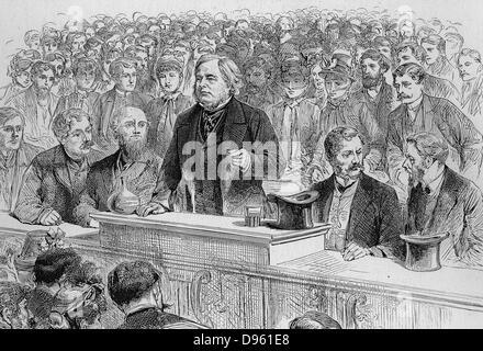 John Bright (1811-1889) English Quaker Radical statesman. Advocate of the Anti-Corn Law League and of Free Trade. - Stock Photo