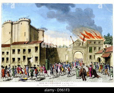 the capture of bastille The storming of the bastille took place on july 14, 1789 as parisian citizens  rioted after the firing of louis xvi's financial minister, jacques nekker, a notable.