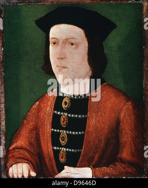 Edward IV (1442-1483)  King of England (1461).  Plantagenet of Yorkist line. Anonymous. Painting on panel. Anonymous. - Stock Photo