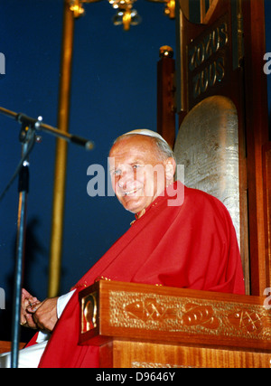 John Paul II (Karol Jozef Wojtyla (1920-2005) Pope from 1978. Photograph. - Stock Photo