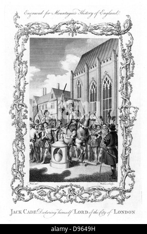 Jack Cade (d1450) English rebel of Irish extraction, leader of Kentish Rebellion during reign of Henry VI, declaring - Stock Photo