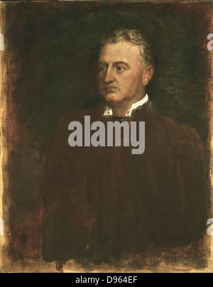 Cecil J Rhodes (1853-1902) English-born South African statesman. Made fortune in Kimberley diamond mines. Formed - Stock Photo