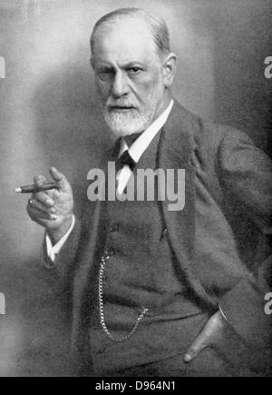 Sigmund Freud (1856-1939) Austrian neurologist. Founder of Psychoanalysis. - Stock Photo