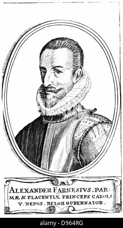 Alessandro Farnese, 3rd Duke of Parma (1546-1592). Nephew of Philip II (1527-1598) king of Spain from 1556. Governor - Stock Photo