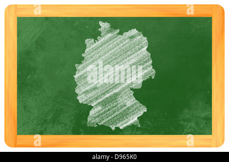 Germany drawn on a blackboard - Stock Photo