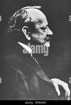 JJ (Joseph John) Thomson 1856-1940. British physicist: discoverer of Electron and pioneer of nuclear physics. From - Stock Photo